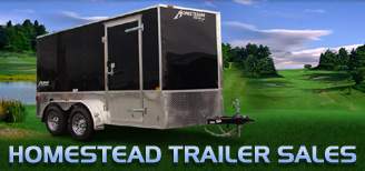 Trailers For Sale 8.5 X 20  Wide Hercules Homesteader Enclosed Equipment Trailer In Stock Ready to Go